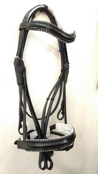 Show bridle with Crank noseband - Show bridle Dressage with crank noseband