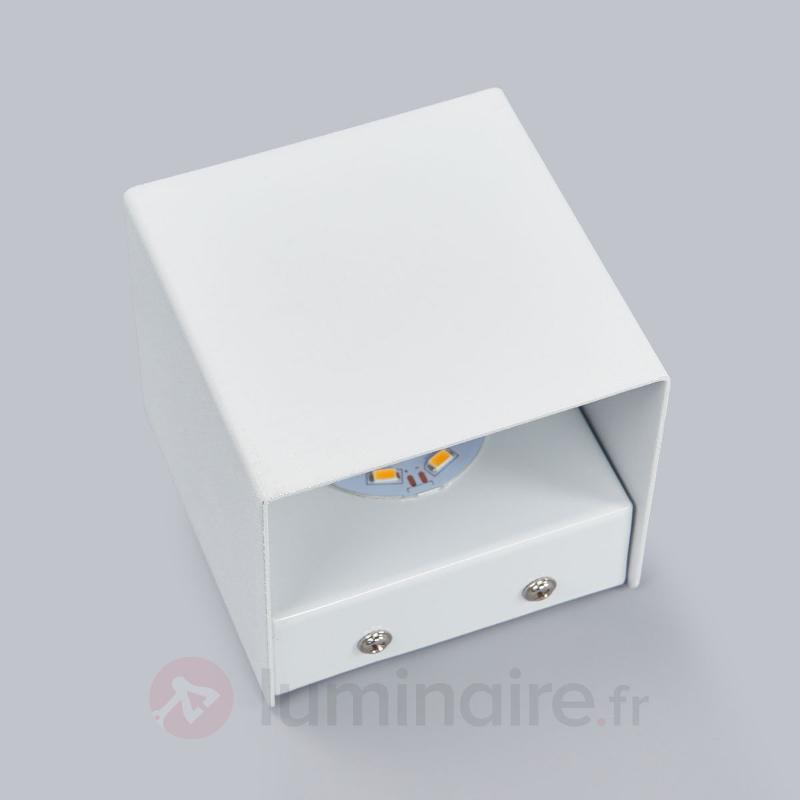 Applique Kimberly en blanc avec LED - Appliques LED