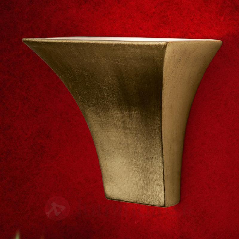 Elégante applique ANTONIE en céramique - Appliques en laiton/dorées
