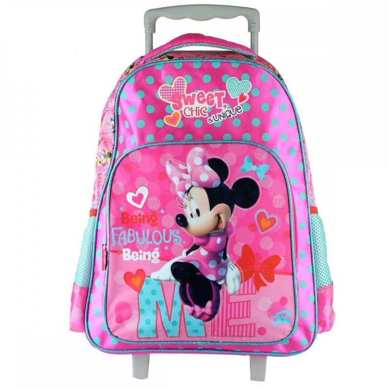 3x Trolleys Minnie Mouse 27x31x10 - Sac et Sac à dos