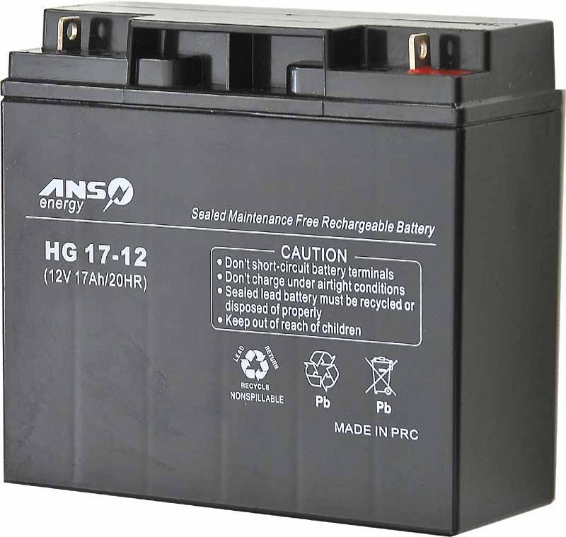 akumulator żelowy agm ansline 12v/17ah