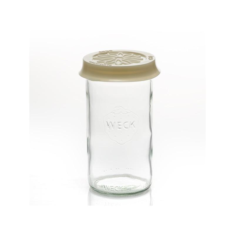 Cap out of silicone Blossom eCAP Storage - diameter 60 mm, beige for jars WECK