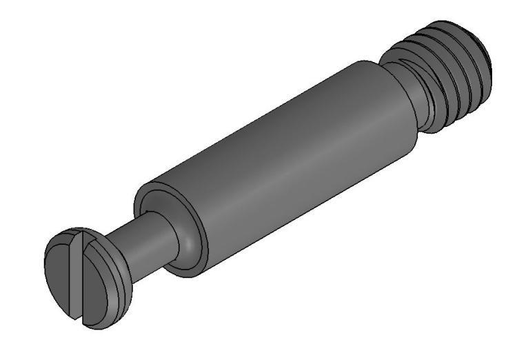 Gewindebolzen - Stahl gedreht - M6 - verzinkt - Ø 7,0mm - Bolzen (Exzenter)