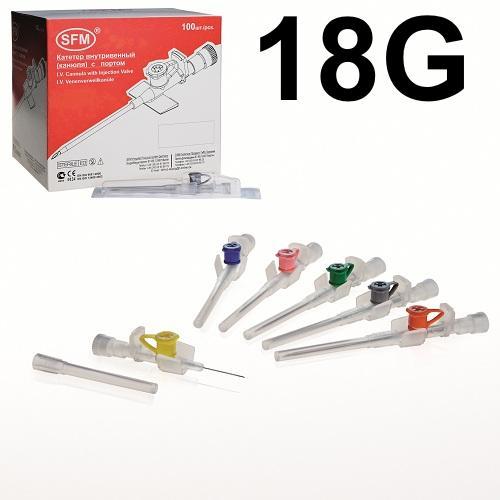 SFM Venen Verweilkanülen IV Katheter (1,3 mm x 45 mm) (100) - null