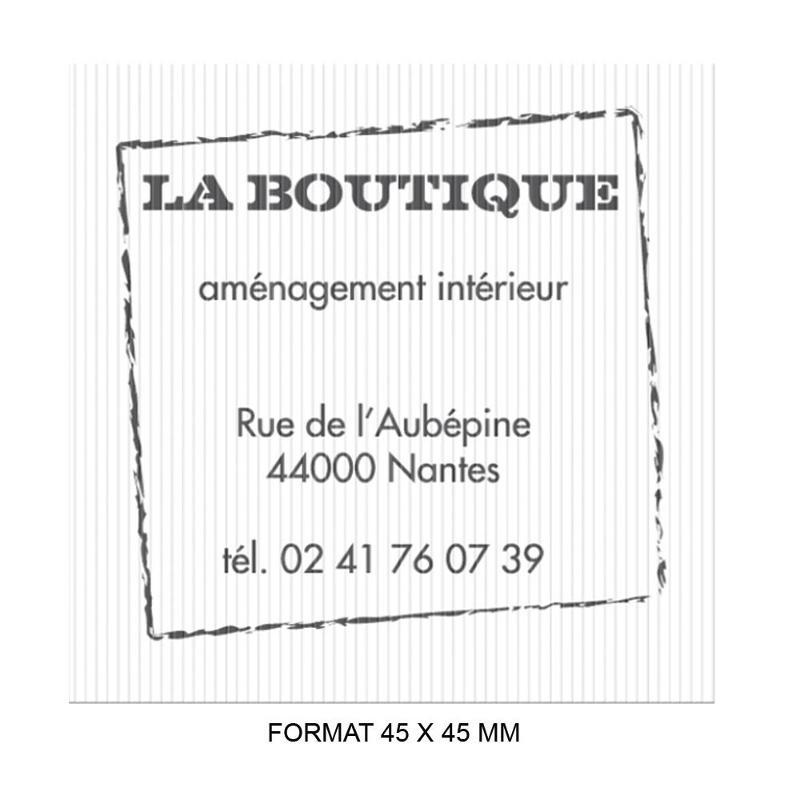 Étiquettes rainurées - Etiquette autocollante pour boutique