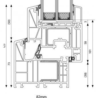 BluEvolution 82 mm MD Classic - Kunststoffenster