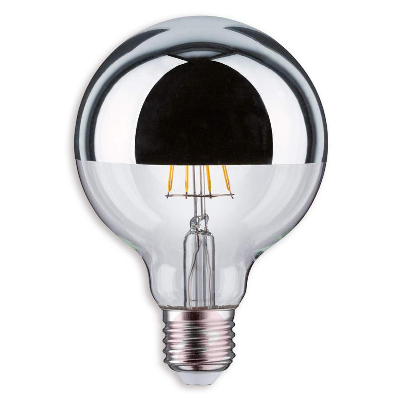 E27 5W 827 LED half mirror globe bulb G95 - light-bulbs