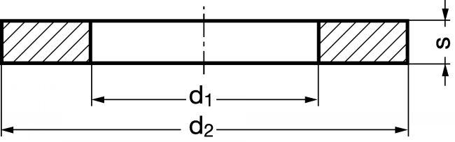216543 RONDELLE PLATE DÉCOUPÉE POUR HAUTE TEMPÉRATURE (800°C) AISI 310 - DIN - AISI 310