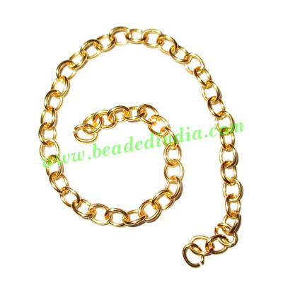 Gold Plated Metal Chain, size: 1x5mm, approx 44.2 meters in  - Gold Plated Metal Chain, size: 1x5mm, approx 44.2 meters in a Kg.