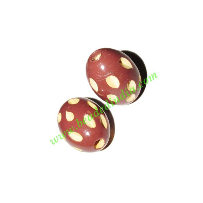 Wooden Carved Beads, size 15x22mm, weight approx 2.15 grams - Wooden Carved Beads, size 15x22mm, weight approx 2.15 grams