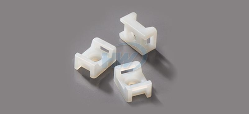 Cable Tie Mounts - Saddle Tyep,Polyamide,9mm Max. tie width,4.5mm Mounting Hole
