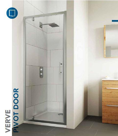 NEW VERVE PIVOT DOOR BY FLAIR - Verve is the latest modern Shower Door collection brought to you by Flair Shower