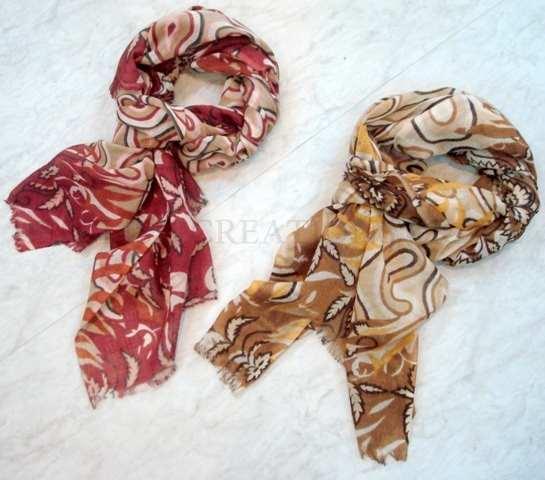 Wool Modal Printed Scarves - Wool Modal Printed Scarves