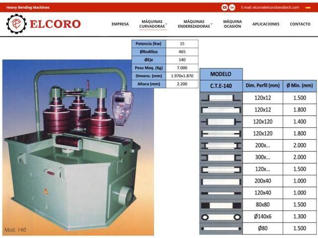 Curvadora ELCORO - CTE 140