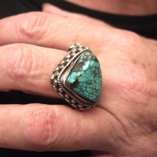 Bagues - Argent, turquoise, Inde