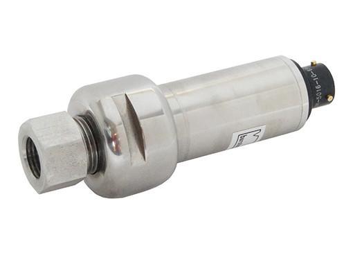High pressure transducer - 8221 - Relative pressure transducer, strain gauge, analog, stainless steel, robust,