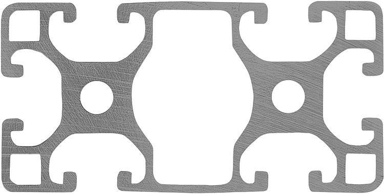 Profilés aluminium 40x80 légers Type I - Profilés aluminium