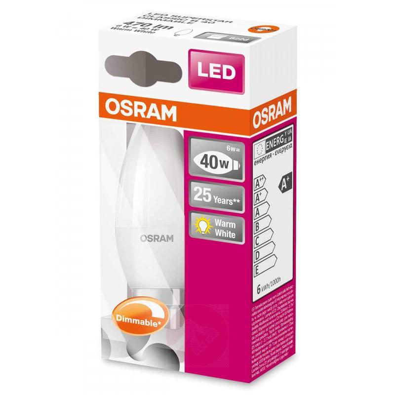 B22 6 W 827 LED candle bulb Superstar, matt - light-bulbs