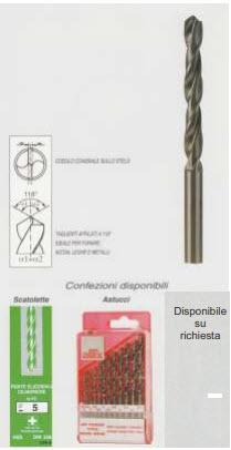 Punte HSS per forare acciaio-ferro-metallo - P2010050 - null