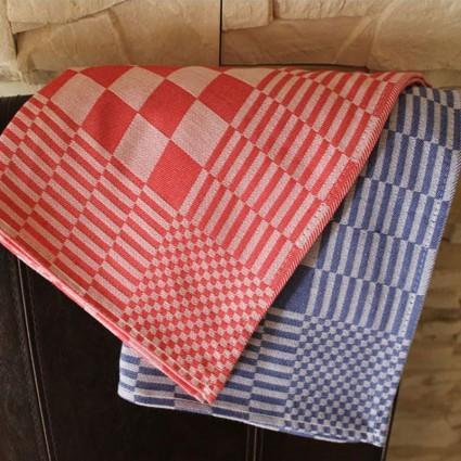 Linge de table : bavoirs et nappes - Lot de 12 serviettes de table MAXI coton