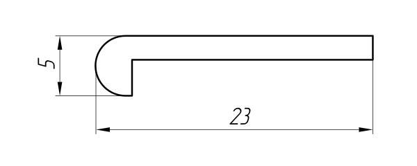 Aluminum Profile For Car And Rail Car Building Ат-1197 - Aluminum profile for mechanical engineering