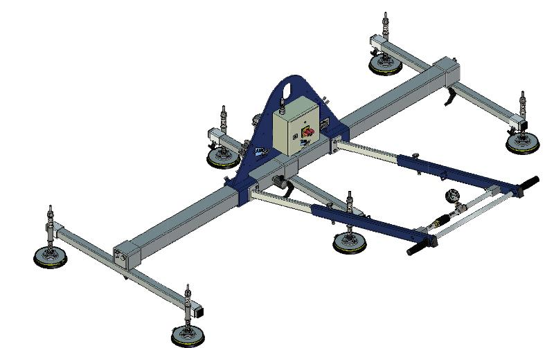 Vacuum lifter for horizontal handling