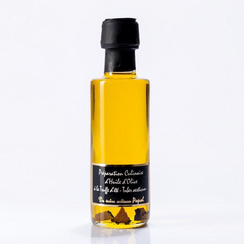 Huile D'olive À La Truffe  D'eté - Bouteille en Verre de 200 ml