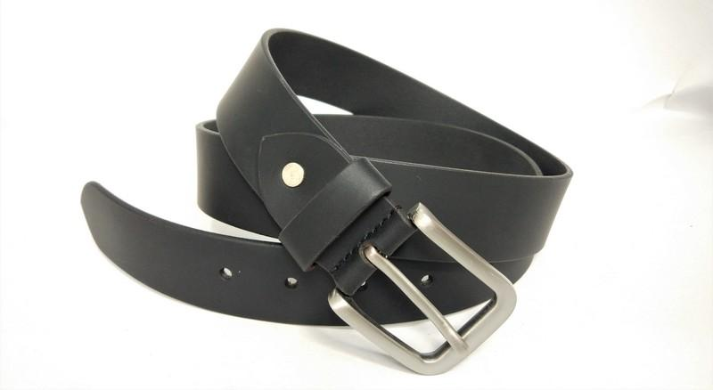 Split plain smooth belt - black split plain smooth belt for men's