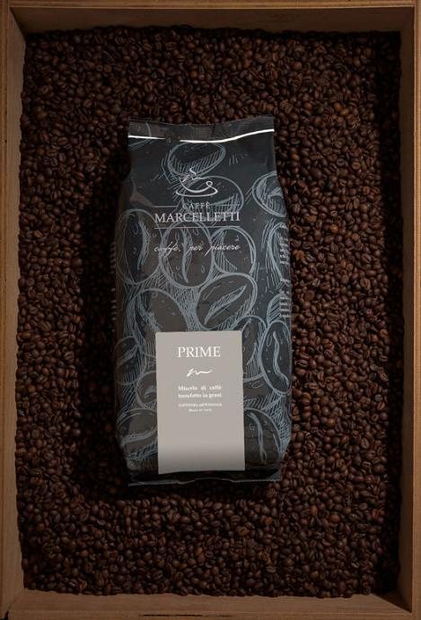 Coffee Marcelletti - PRIME 1 Kg - Roasted Coffee Beans - Prime Blend