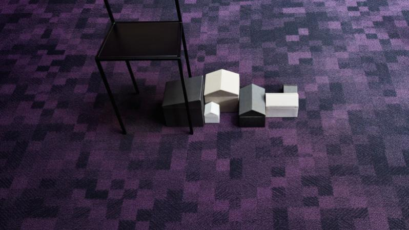 Area 700 - Wall-to-wall Carpet - A mosaic of gently shimmering puzzle pieces.