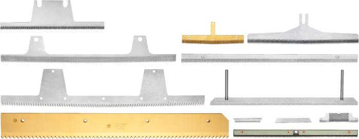 Poly-tube bag - Separator knives - Upper and lower knives