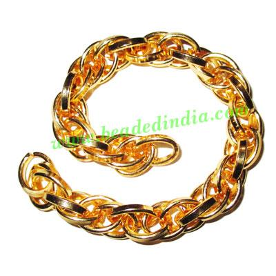 Gold Plated Metal Chain, size: 2x11mm, approx 4.6 meters in  - Gold Plated Metal Chain, size: 2x11mm, approx 4.6 meters in a Kg.