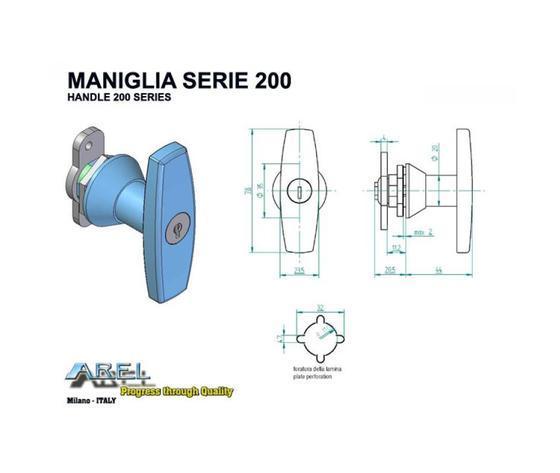 Maniglie - Maniglie SERIE 200
