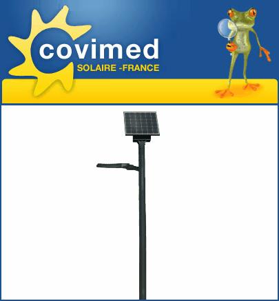 Réverbères solaires pour espaces publics - Réverbère FR 570 AGM ou 570-ECO LiFePO4 - Lotissement
