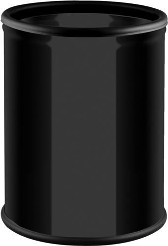 Metall Papierkorb, schwarz, 7L - Z80060701