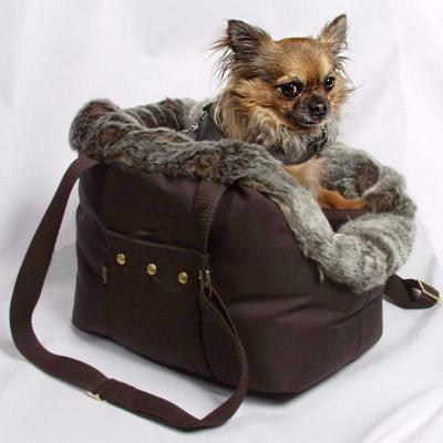 Rain protective carrier with fur and bag for Pets