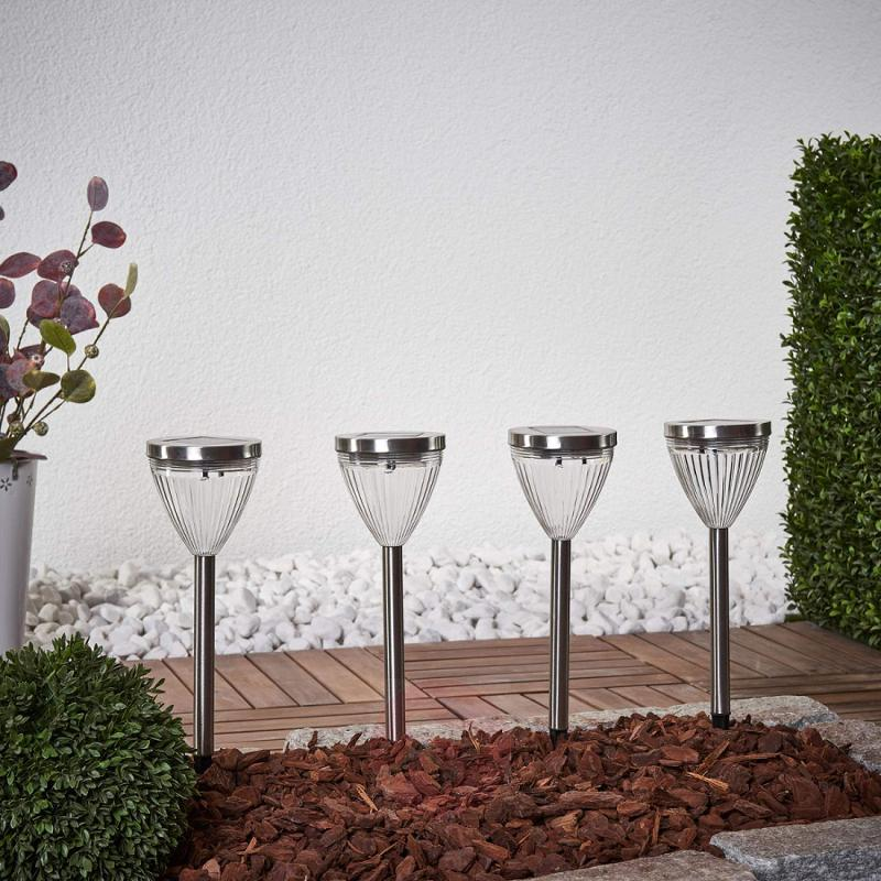 Set of four Mikado decorative solar lights - outdoor-led-lights