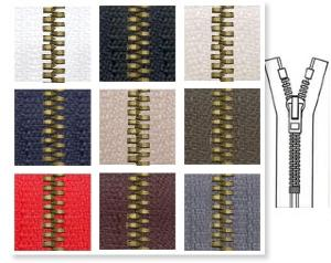 Zip 6 Metaluxe © doré fixe (Standard - 12 cm - Noir) - Fermetures à glissière