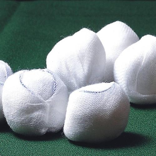 Blue-line gauze ball - 100% cotton absorbent skim gauze, after degreasing bleaching, high temperature d