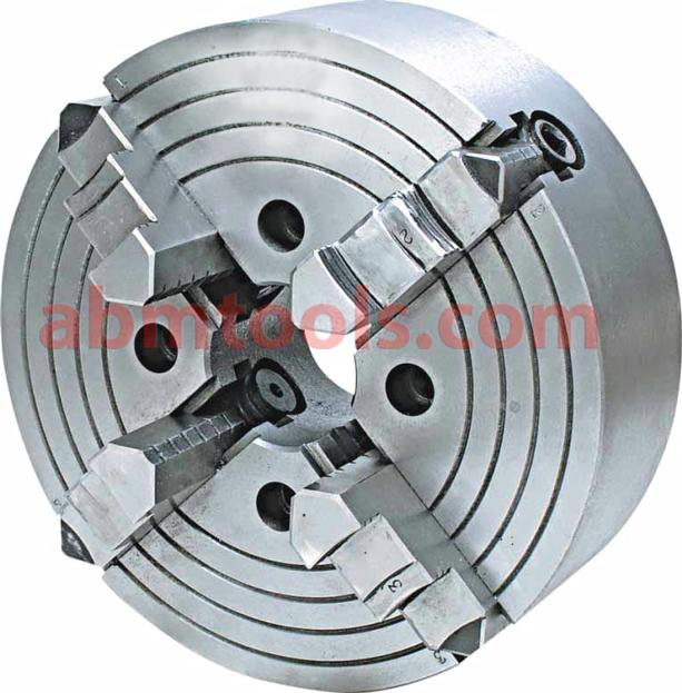 Independent 4 Jaw Lathe Chuck - Dog Chuck -  can be adjusted to accommodate irregularly shaped workpieces.