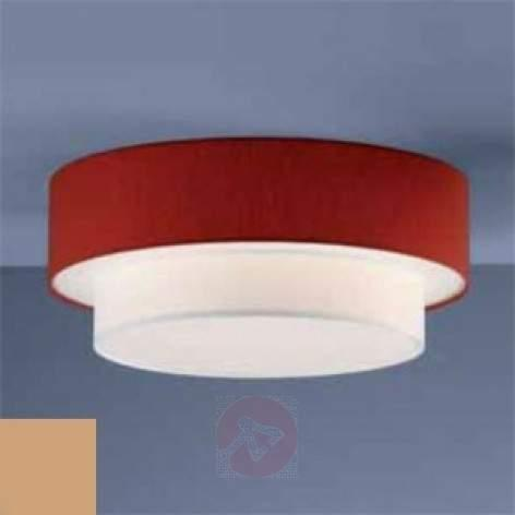 wo-coloured hanging lamp Mariella, wine red - design-hotel-lighting