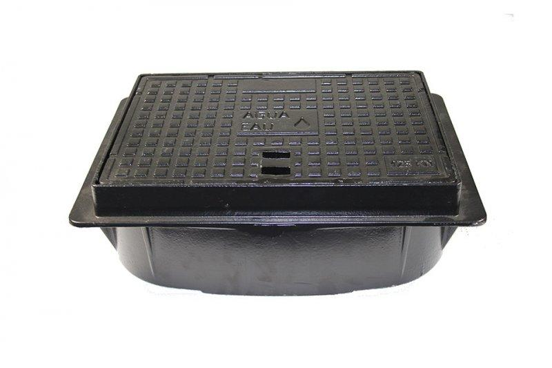 Cast iron cover B125 for BEULCO water meter box - Cast iron cover square for BEULCO water meter box, load class B125 up to 12,5t