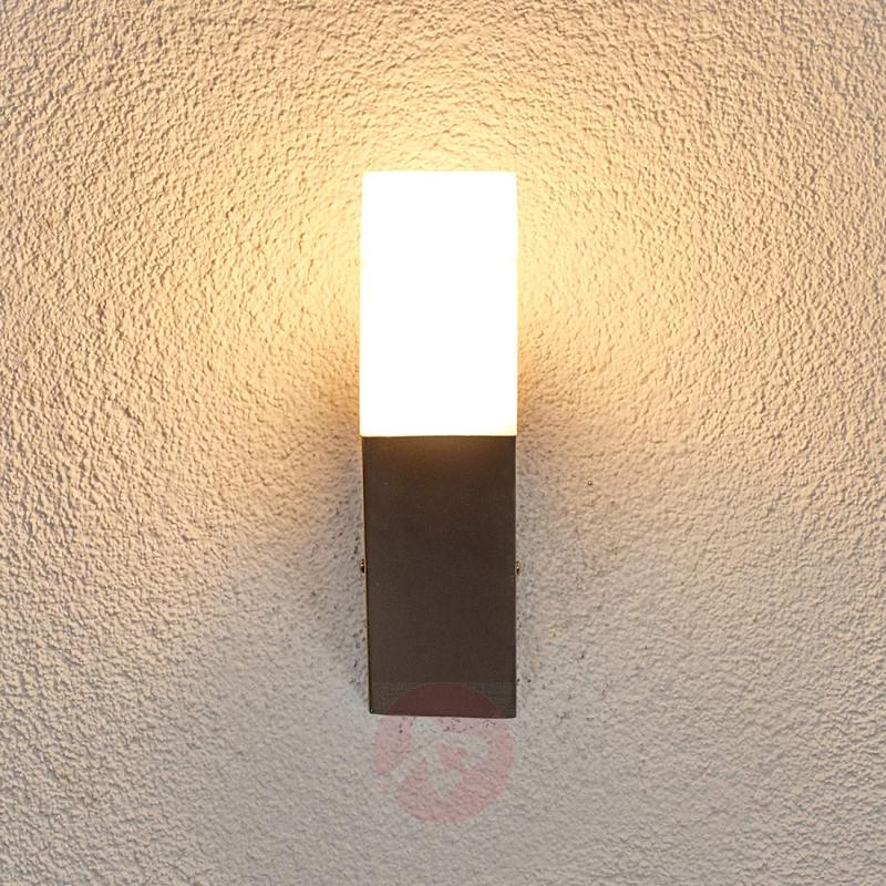 Rectangular LED wall torch Barbara for outdoors - outdoor-led-lights
