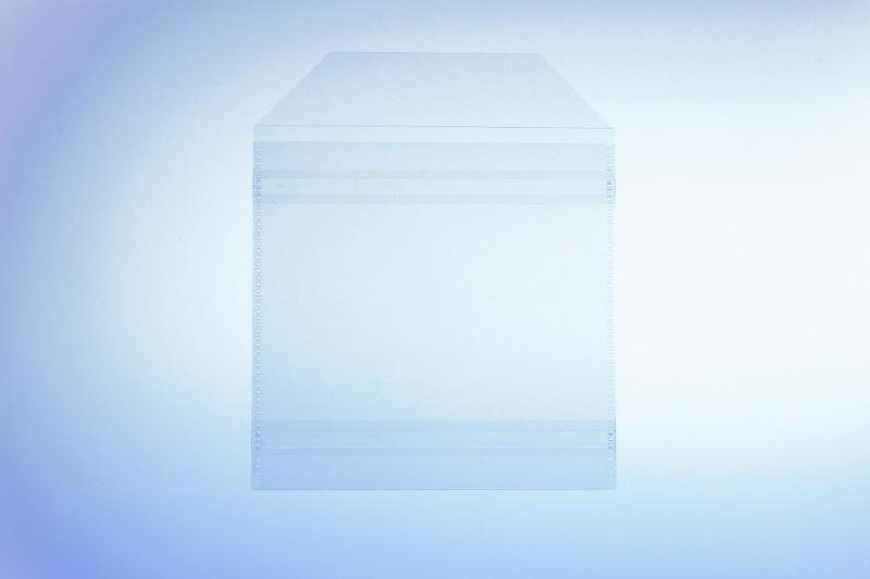 Klarsichttasche für 1 Disc - mit Klappe und 2... - Retailverpackungen & Zubehör