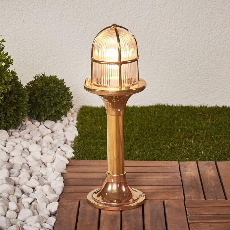 Brass pillar light Ocean - Pillar Lights