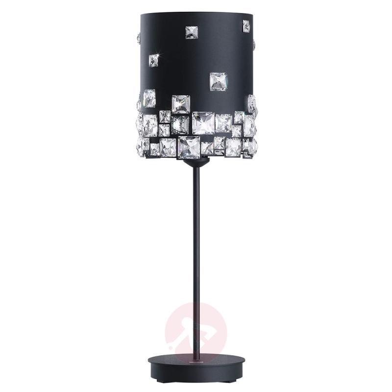 Crystal table lamp Mosaix, black - design-hotel-lighting
