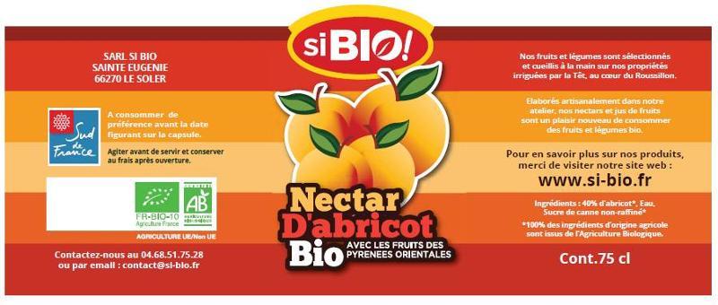 NECTAR D'ABRICOT 75 cl - Boissons