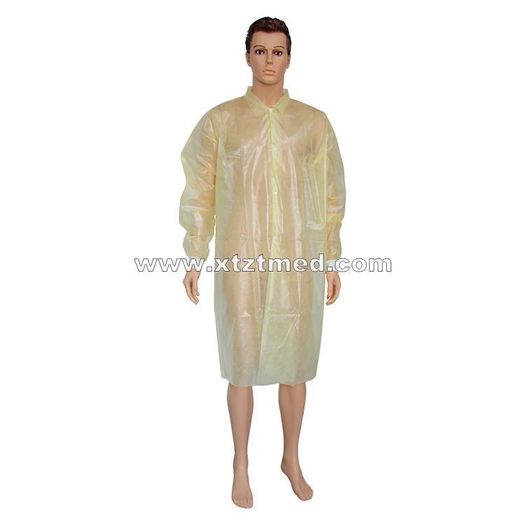 PP Coated PE Lab Coat -
