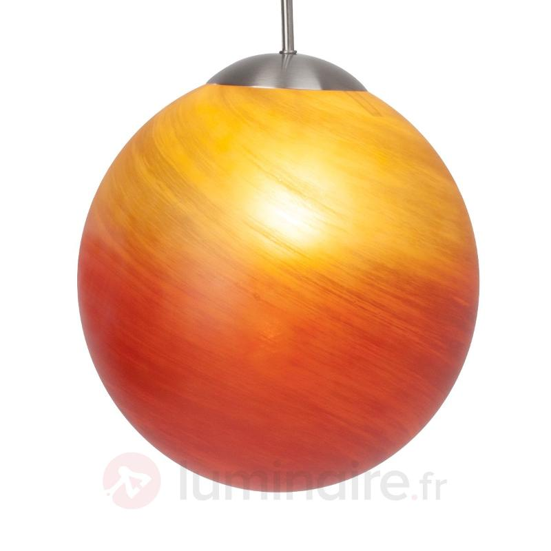 Suspension Timo rouge et orange - Suspensions en verre