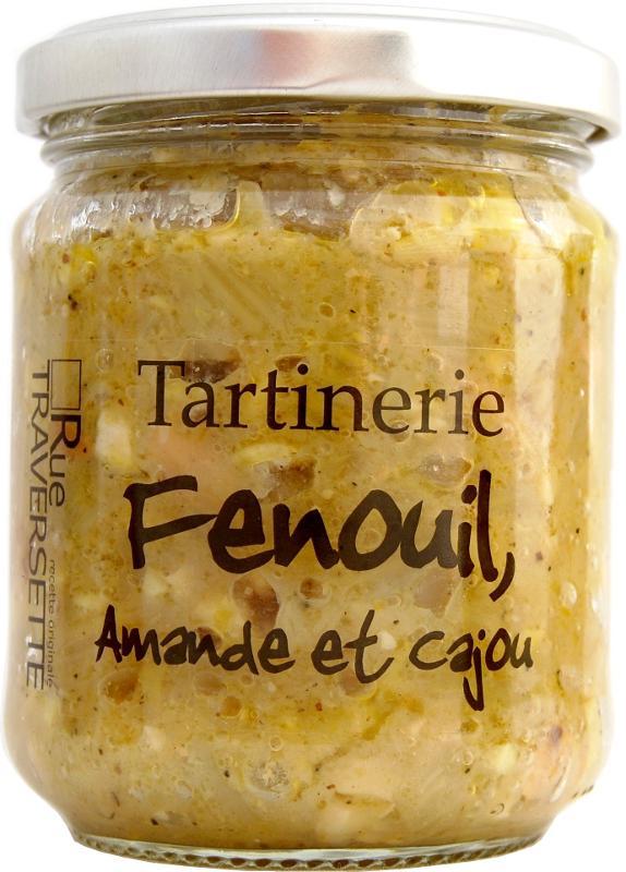 Tartinerie Fenouil amandes & cajou 185g - Epicerie salée